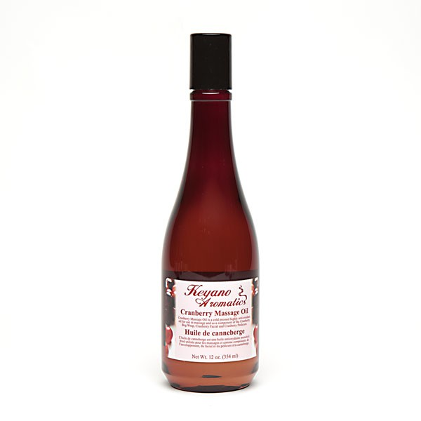 Keyano Cranberry Massage Oil 12 oz-0