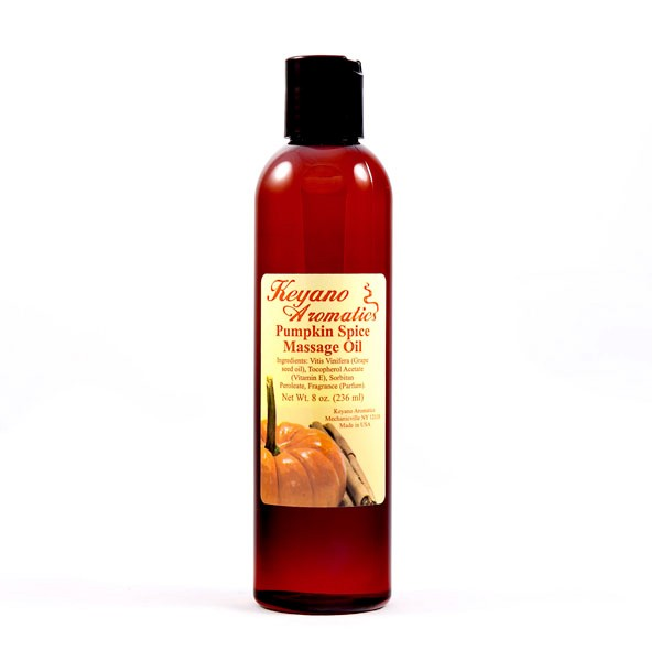 Keyano Pumpkin Spice Massage Oil 8 oz-0