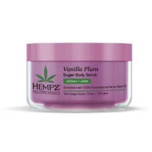 Hempz Vanilla Plum Herbal Sugar Body Scrub 7 oz.-0