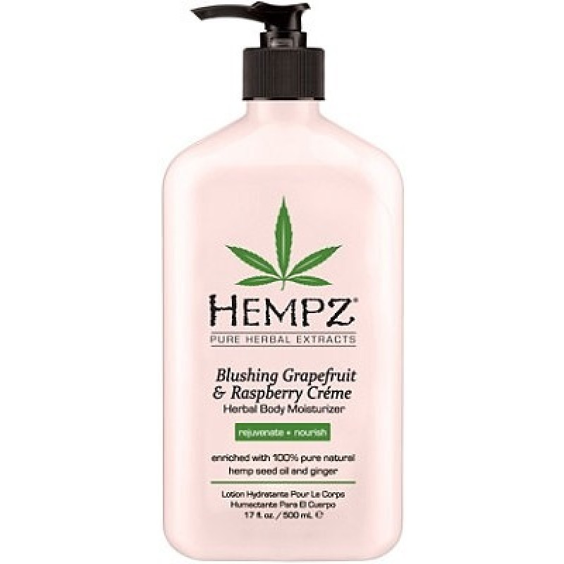 Hempz Blushing Grapefruit & Raspberry Crème Herbal Body Moisturizer 17 oz-0